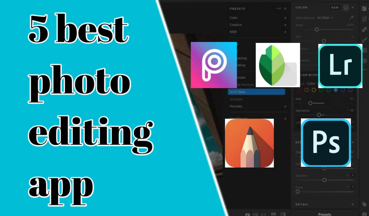 top 5 photo editing app